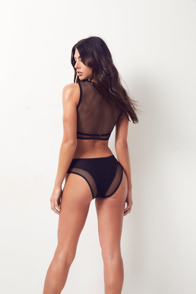 Nina Fishnet One-Piece