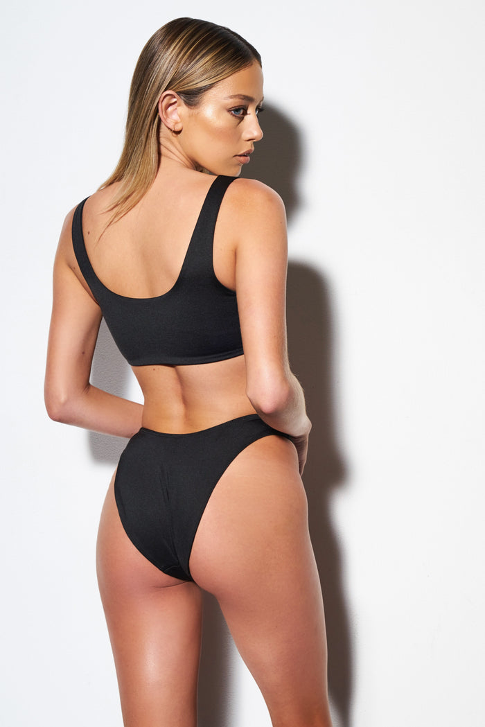 Amy Mid Hip Bottoms (Black)
