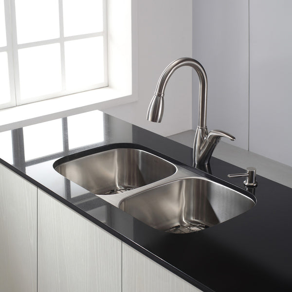 50/50 Basic and Industrial Kitchen Sink/Faucet Bundle – K&B Products