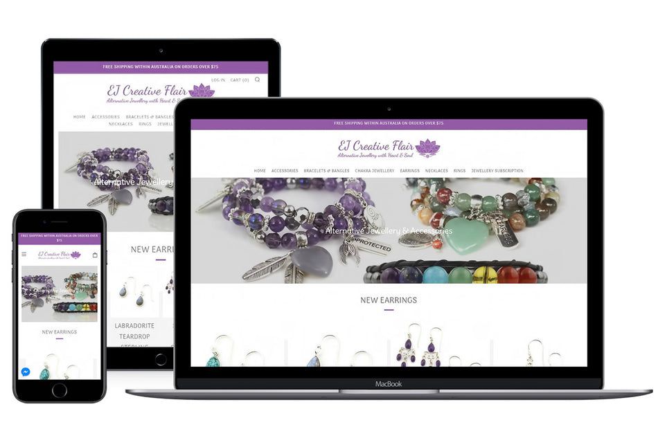 EJ Creative Flair Website Showcase