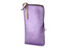 METALLIC ZIP CASE - LTPURP/GLD