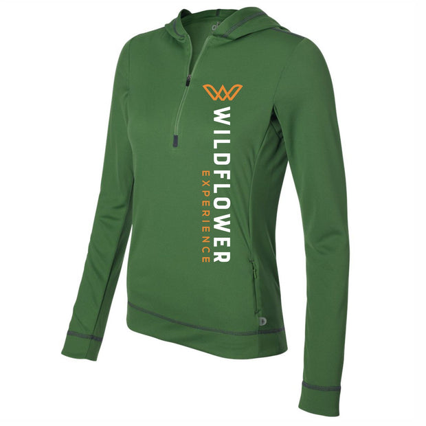 Layer under or over in this performance 1/2 Zip Hoody from Bella+Canvas. Item id wexthp901818w