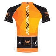 FREE HAT WITH PURCHASE: '35th Anniversary' Women's Sublimated Tech Full Zip SS Cycling Jersey - Orange / Black