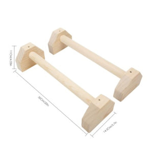 BullGnG Gymnastics wooden parallettes, handstand bar, wooden push up bars