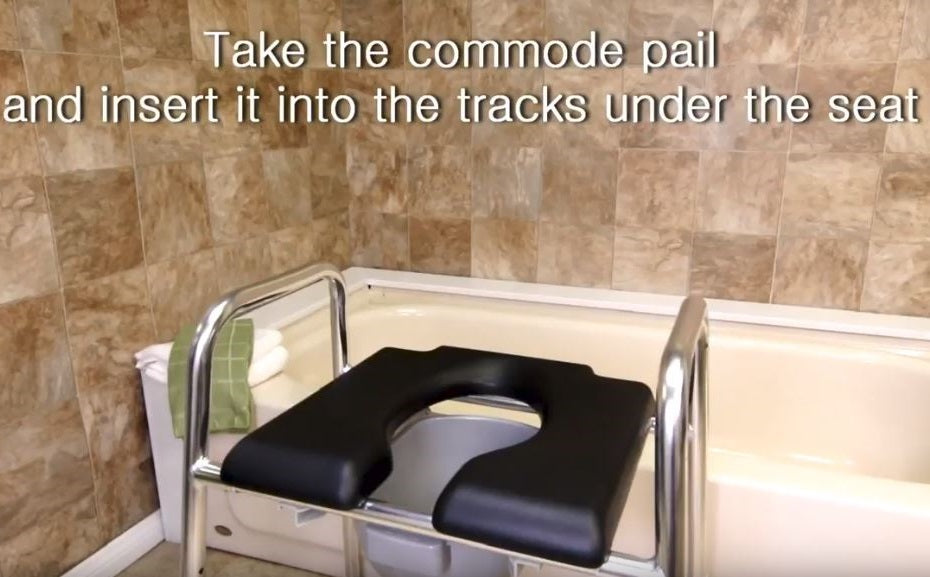 How to Assemble: 74654/ 74655 (Padded Raised Toilet Seat / Safety ...