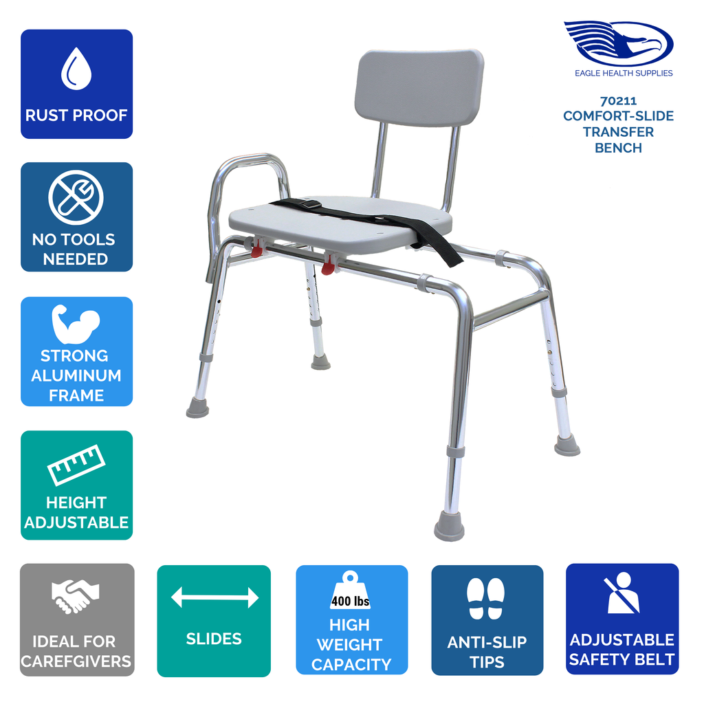 70211 - Comfort-Slide Transfer Bench - Eagle Health Supplies