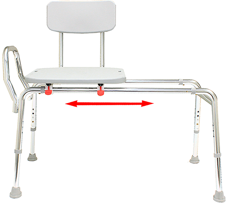 77211 - Sliding Transfer Bench (Regular) - Eagle Health Supplies