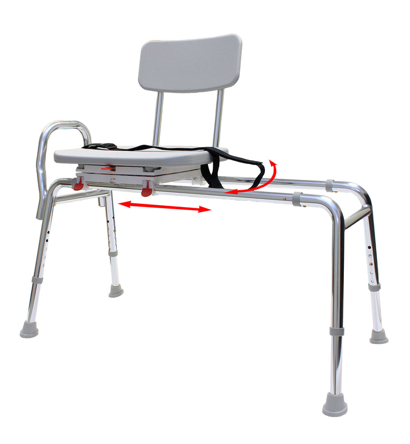 77662 - Swivel Sliding Transfer Bench (Regular) - Eagle Health Supplies