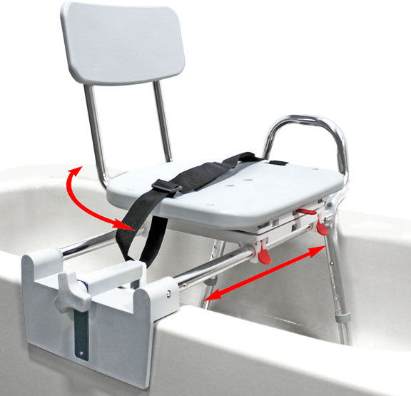 77762 - Tub-Mount Swivel Sliding Transfer Bench - Eagle Health Supplies