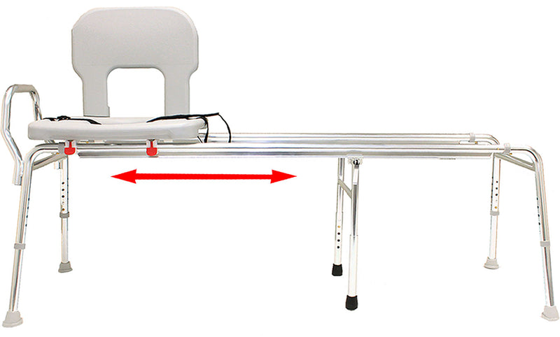 77963 - Toilet-to-Tub Sliding Transfer Bench (Long) - Eagle Health Supplies