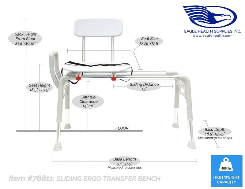78811 - Sliding Ergo Transfer Bench (Regular)