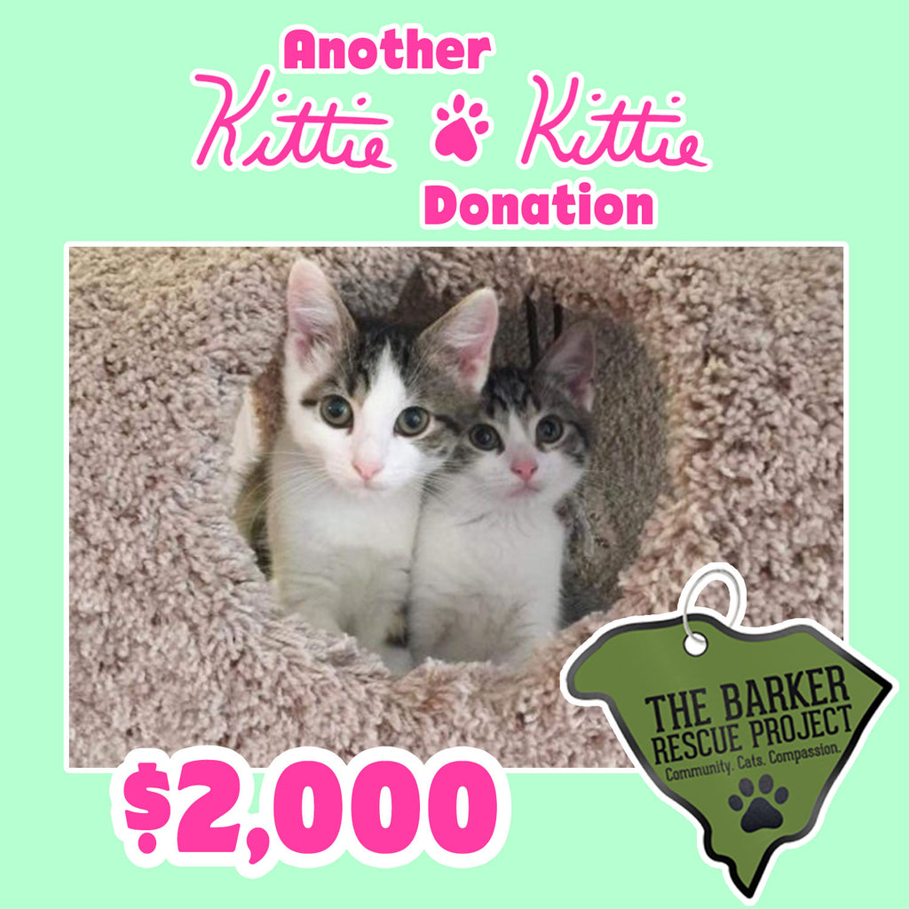 Kittie Kittie™ partners with The Barker Rescue Project!