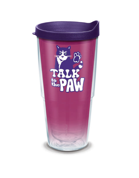 TALK TO THE PAW 24oz TUMBLER