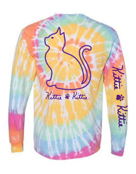 AERIAL TIE DYE KITTIE, ADULT LS