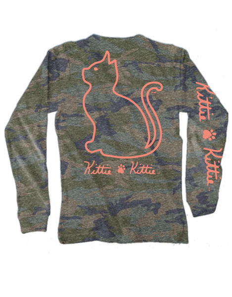 CAMO LOGO KITTIE, ADULT LS