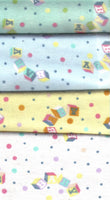 Baby Print (Mint, Blue, Yellow, White)