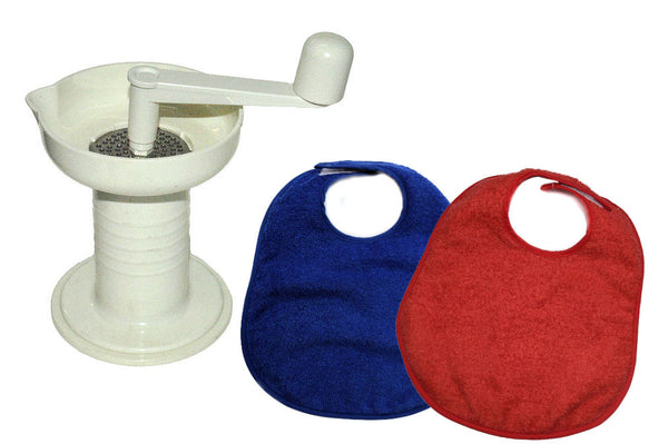 Kidalog Baby Food Mill & Bib Bundle