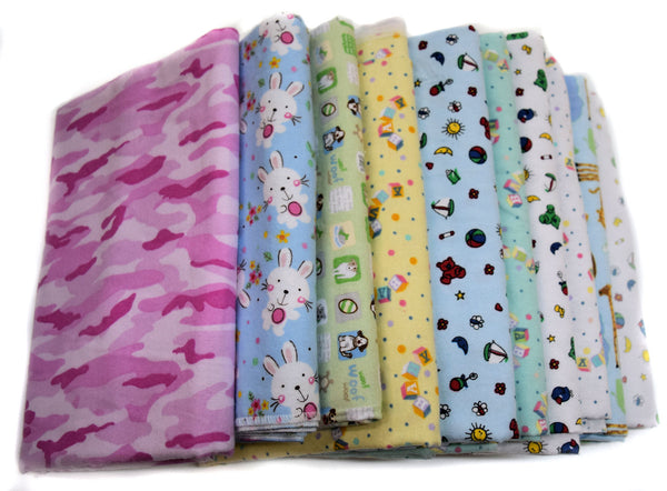 Regular Swaddling Receiving Blankets - 10 Pack