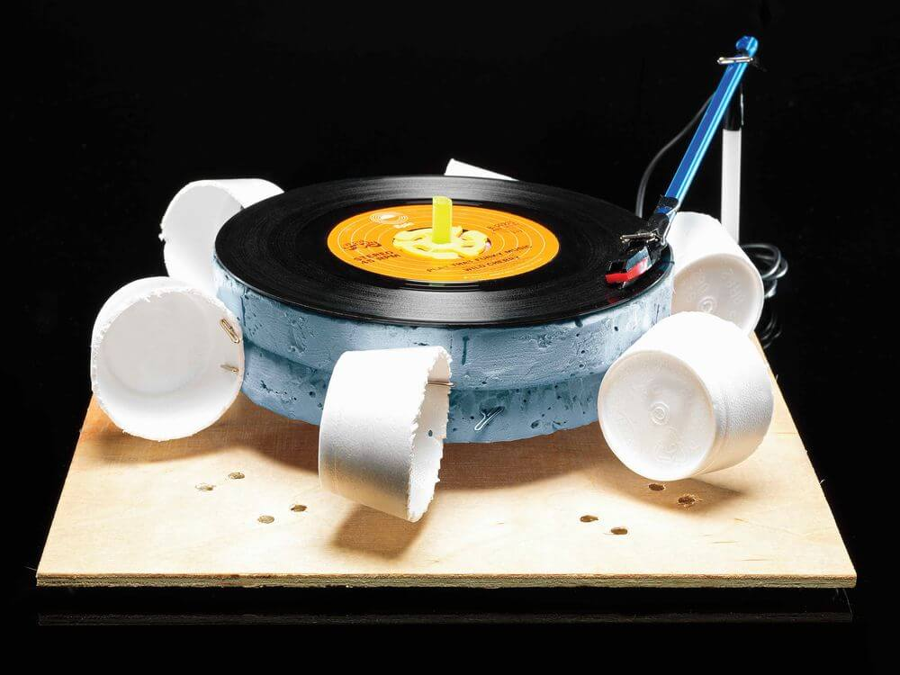 This record player is entirely powered by wind!