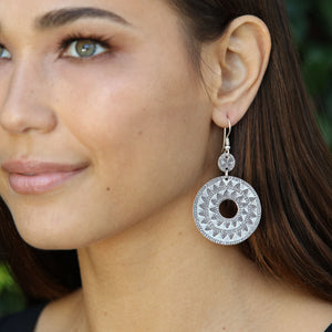 E5 - Hammered crescent earring