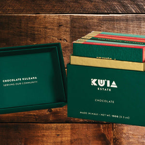 Our Ku`ia Estate Chocolate is in the Box!-Maui Kuʻia Estate Chocolate