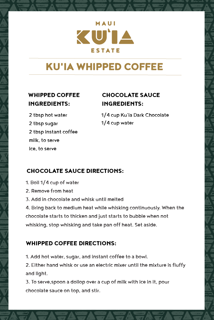 Ku'ia Whipped Coffee