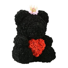 Load image into Gallery viewer, Luxury Faux Rose Teddy Bear