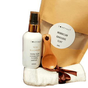 DIY Clay Mask Kit with FREE Organic Argan Oil Sample