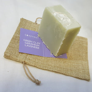 Green Clay, Geranium & Lavender Soap Bar