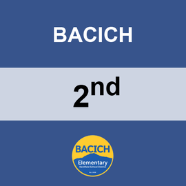 BACICH | 2ND GRADE <br/> MONDAYS | VEGETARIAN <br/> PENNE PASTA WITH MARINARA SAUCE