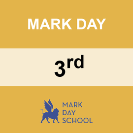 MARK DAY | 3RD GRADE <br/> WEDNESDAYS | TRADITIONAL <br/> PIZZA FROM STEFANO'S PIZZERIA
