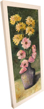 purple vase with flowers  |  20x47cm  |  original oil painting SOLD