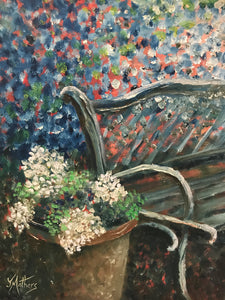 the garden seat  |  30x40cm  |  original oil painting SOLD
