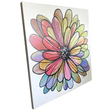 CANVAS PRINT 'into the flower' 75x75cm in stock