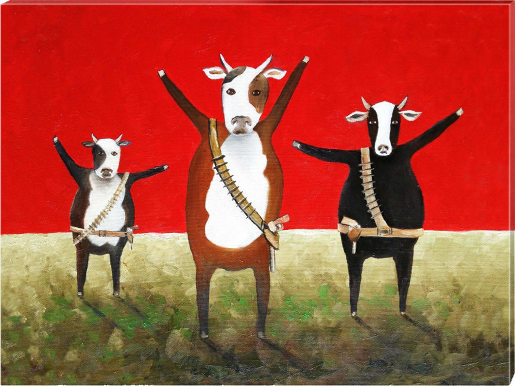 PRINT on CANVAS: bovine gang | 100x75cm - from my original painting