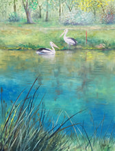 two pelicans  |  46x61cm  |  original oil painting | sold
