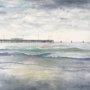 old shorncliffe pier  |  76x76cm  |  original oil painting SOLD