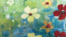 flower reflections  |  30x60cm  |  original oil painting SOLD