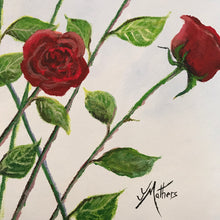 12 roses  |  51x51cm  |  original acrylic painting SOLD