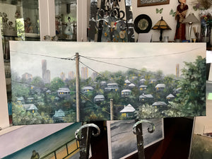 grange view  |  76x30cm  |  original painting SOLD