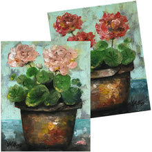 geranium pots  |  2x20x25cm  |  original oil paintings