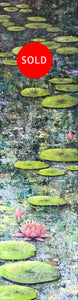 lily pond 2  |  30x120cm  |  original oil painting SOLD