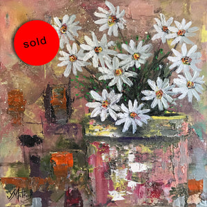 daisy daisy  |  30x30cm  |  original oil painting | SOLD