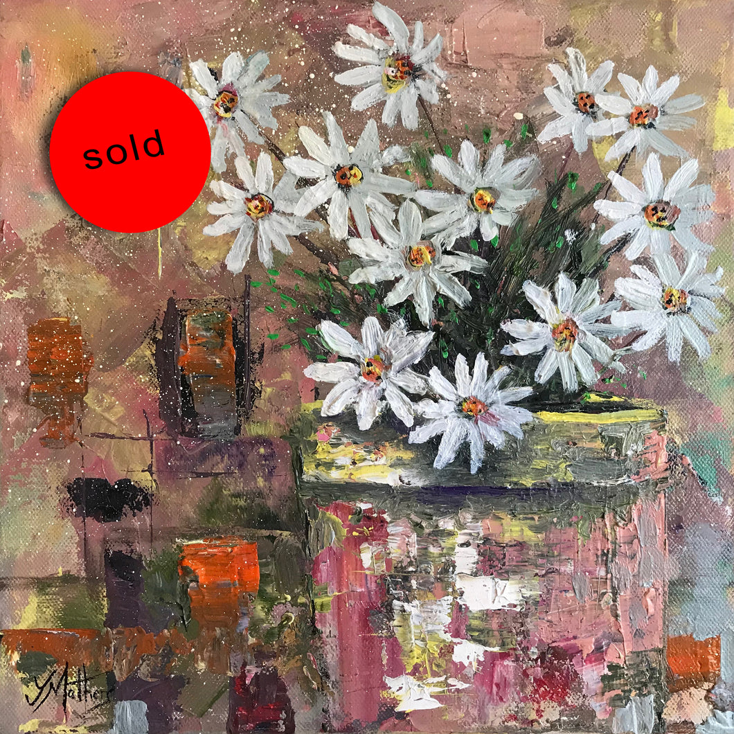 daisy daisy  |  30x30cm  |  original oil painting SOLD