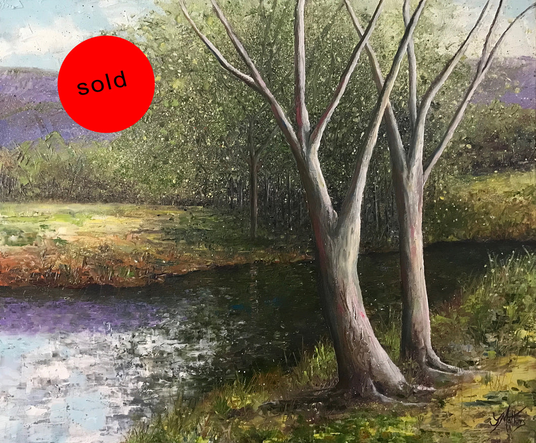 quiet place  |  60x50cm  |  original oil painting | SOLD