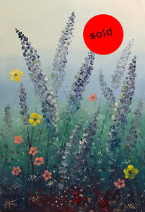 lavender garden  | 45x65cm | original oil painting SOLD