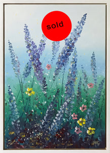 lavender garden two  | 45x65cm | original oil painting | SOLD