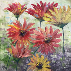 summer flowers  |  40x40cm  |  original painting