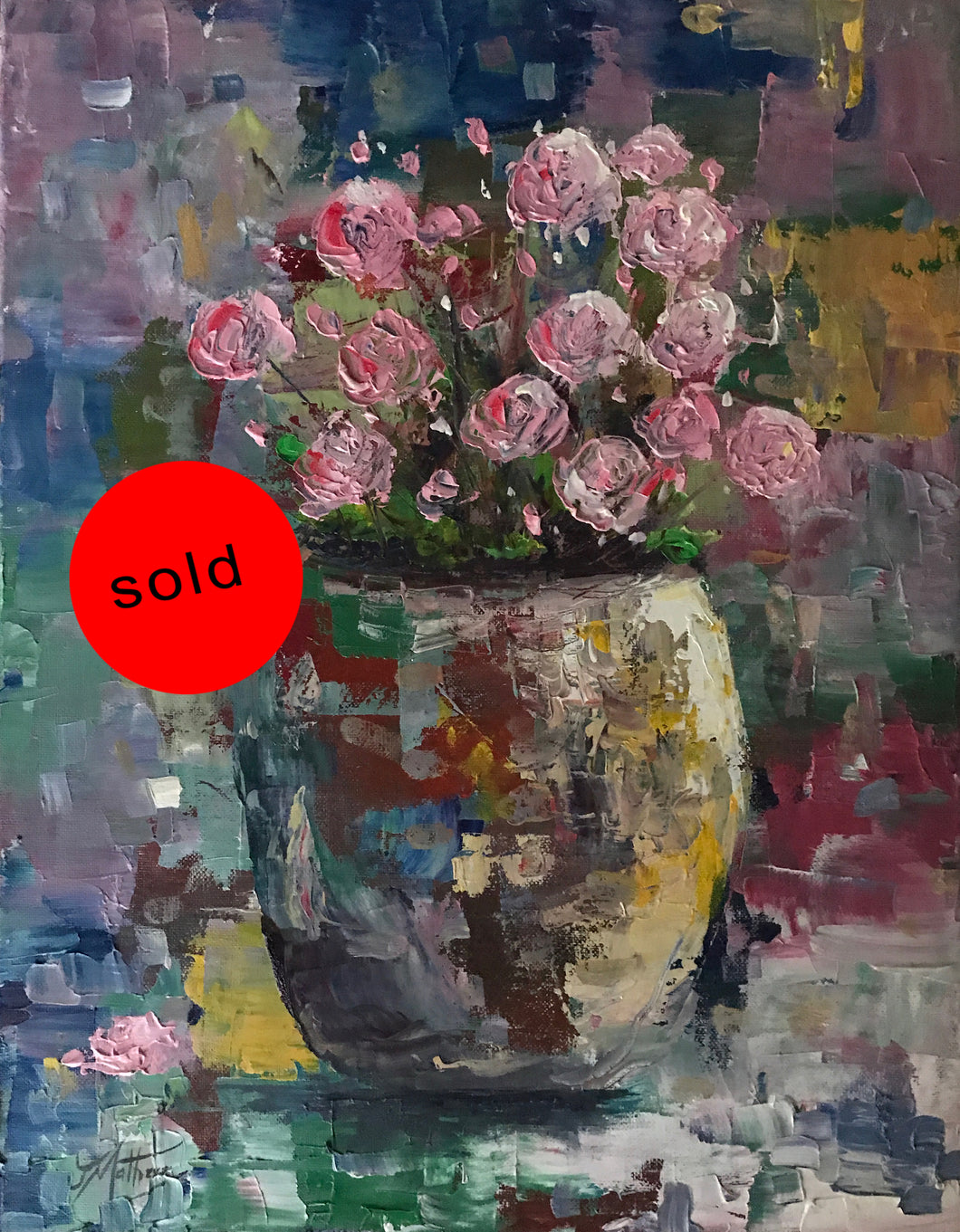 pinks forgotten  |  35x45cm  |  original oil painting SOLD