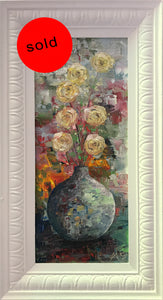 yesterday's flowers 1  |  20x48cm  |  original oil painting | SOLD